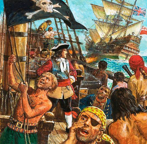 Captain Kidd, English pirate, 1690s