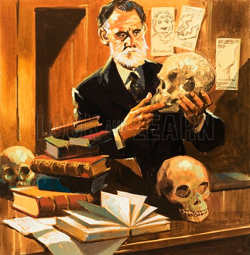 Piltdown man discovered, picture, image, illustration