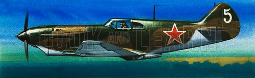Into the Blue: Russian Fighters of World War II. Russian Lavochkin fighter. Original artwork from Look and Learn no. 383 (17 May 1969).