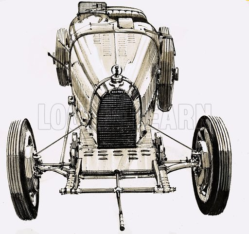 Unidentified car. Original artwork.