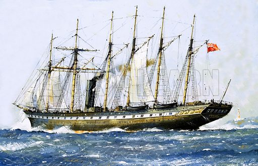SS Great Britain, picture, image, illustration