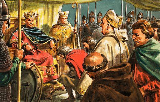 Unidentified king. Original artwork.