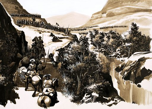 Why Did it Happen? Killiecrankie -- the Tartan Triumph! Into the valley of the River Garry came the Lowland army of General Mackay -- to find itself face to face with lines of Highlanders. Original artwork from Look and Learn no. 489 (29 May 1971).