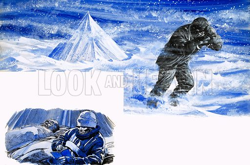 Scott of the Antarctic. Original artwork (dated 5/8/59).
