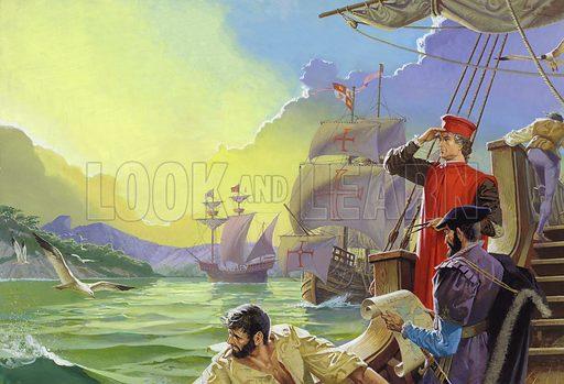 Amerigo Vespucci sighting America.