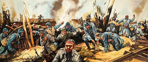 Great Events in History: The Western Front. Original artwork from Look and Learn no. 288 (22 July 1967).