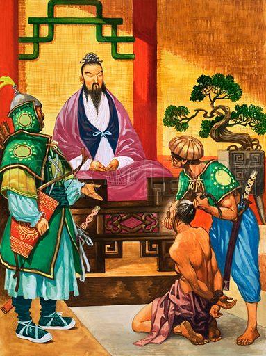 Confucius, ancient Chinese philosopher and politician. Original artwork from Treasure no. 405 (17 October 1970).