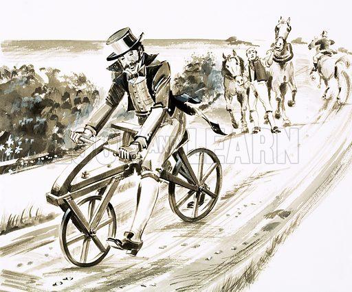 Drais Sauerbronn, a German civil servant, creator of the 'riding machine'... the bicycle.