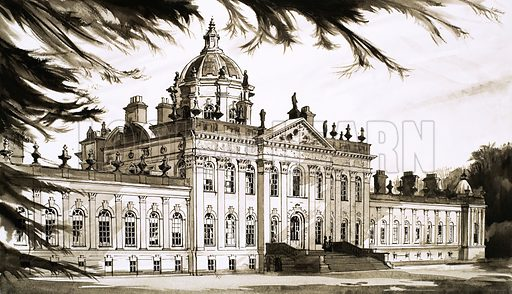 Why They Were Built: The Great 'Amateur'. Castle Howard. Original artwork from Look and Learn no. 442 (4 July 1970).