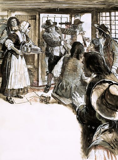 The Scene of the Crime: Victims of Vengeance. The discovery of a corpse of Sir Edmond Berry Godfrey in Primrose Hill in 17th century London. Original artwork from Look and Learn no. 616 (3 November 1973).