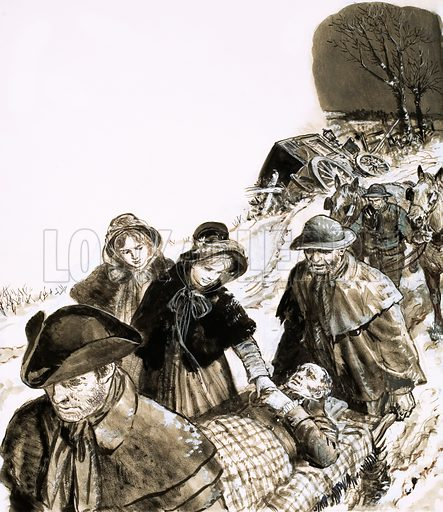 Humphrey Repton's accident, picture, image, illustration