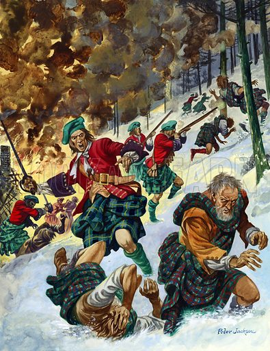 Massacre of Glencoe, picture, image, illustration