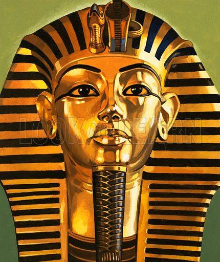 King Tutankhamen. Original artwork (dated 24/4/73).