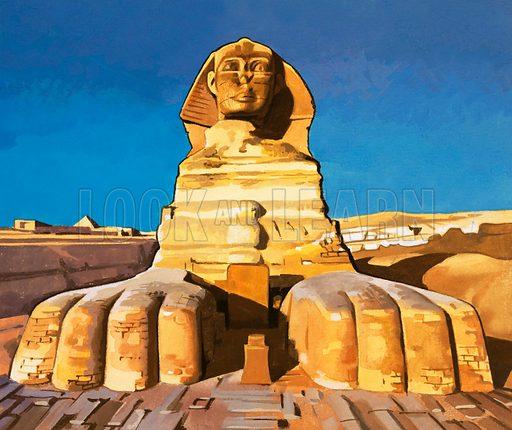 The Sphinx. Original artwork (dated 24/4/73).
