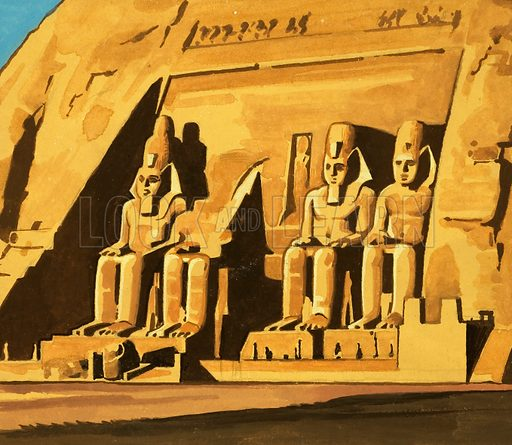 Ancient Kings of the Great Pyramids. Original artwork (dated 24/4/73).