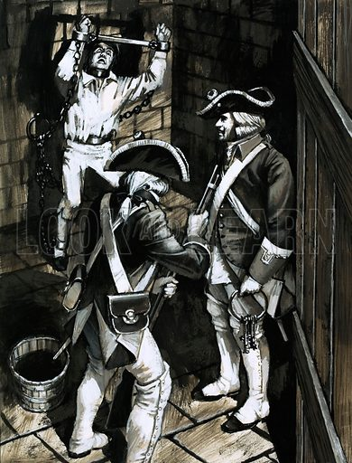 Prisons and Their Prisoners: The ten-year torment of Baron Trenck. Wrongly accused of being a traitor, nothing could stop the indomitable Baron Frederick Trenck. Original artwork from Look and Learn no. 578 (10 February 1973).