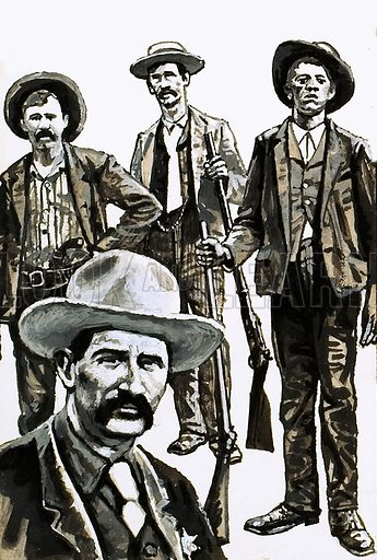 Marshal Bill Tighman and members of his posse who captured the Doolin Gang.