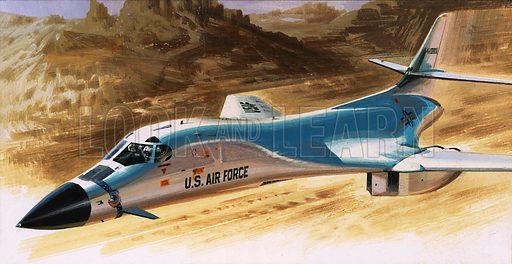 Unidentified US Air Force aircraft. Original artwork.