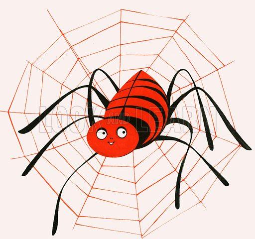 Itsy Bitsy Spider. Original artwork.