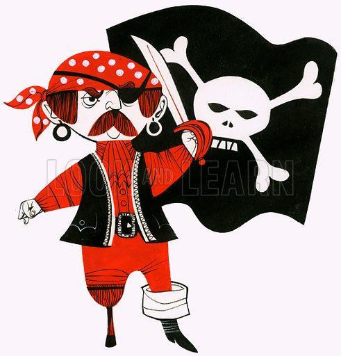 Cartoon pirate. Original artwork.