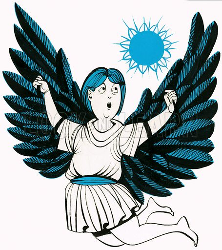 Icarus. Original artwork.