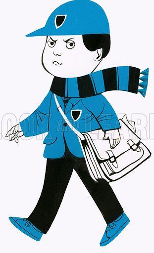 Schoolboy. Original artwork.