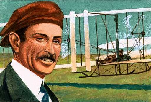 Orville Wright. Original artwork (dated 1/8/70).