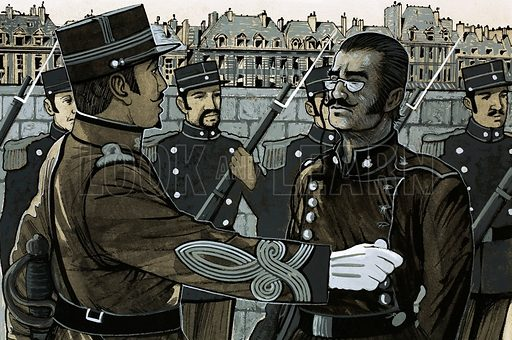 Unidentified French military commander. Original artwork.