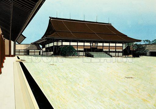 Unidentified temple. Original artwork.