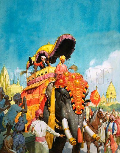 Clive of India. Original artwork for World of Wonder Book.