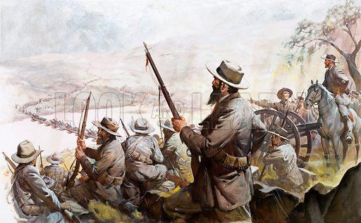 Boers.  Unidentified scenes. Original artwork.