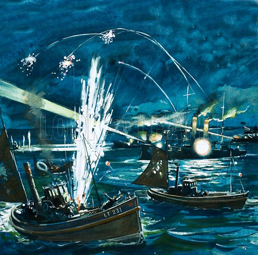 The Russian forces mistake a British fishing fleet for invading Japanese craft in 1904.