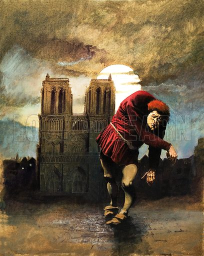 The Hunchback of Notre Dame. Original cover artwork from Look and Learn no. 924 (6 October 1979).
