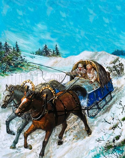 Richard Chancellor is taken to meet Tsar Ivan by sledge.