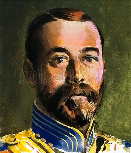Czar Nicholas II, picture, image, illustration