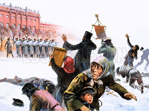 Scene from Russian Revolution of 1905.