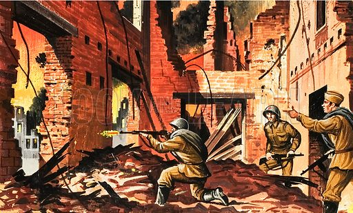 The defense of Stalingrad during the Second World War.