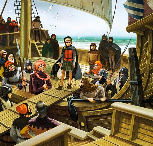 The Day They Stole Scotland's Heir. The 12-year-old Prince James crossing to the English vessal and captivity.