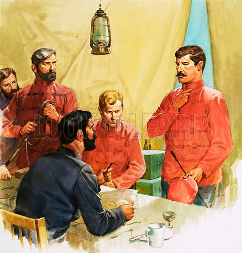 Lieutenant Carey reporting the death of Prince Louis Napoleon in the Zulu wars. Original artwork.