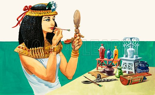 The History of Our Wonderful World: Everyday Life in Egypt. Dressing up and making up in Ancient Egypt. Original artwork from Treasure no. 224 (29 April 1967).