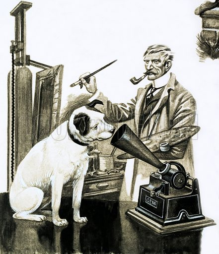 picture, gramaphone, his master's voice