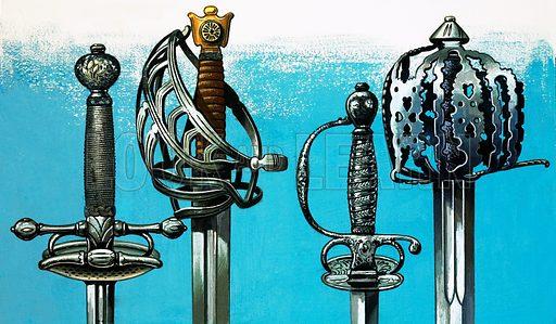 Swords. Original artwork.