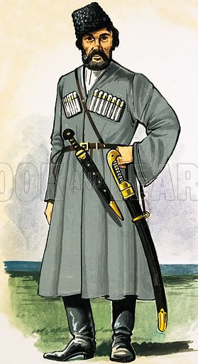Don Cossack guard at the end of the 19th century.