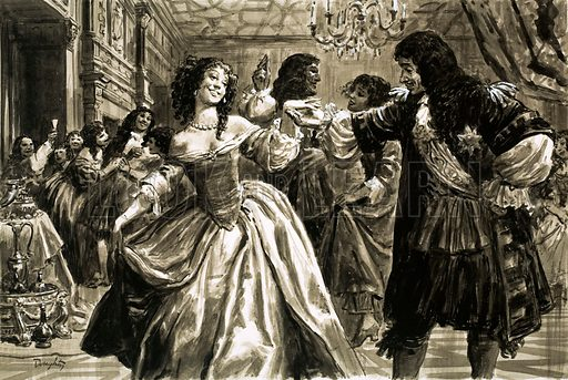 King Charles II and Nell Gwyn dancing.