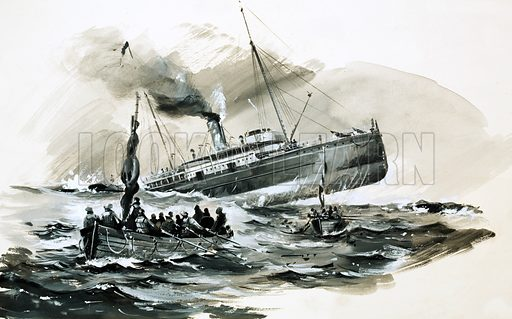 They Raced for Glory: The 'Stella's Last Challenge. In 1899, with her keel gashed open and water rushing in, the passenger steamer Stella lurched from rock to rock off the Casquets and the order was given to abandon ship. Original artwork from Look and Learn no. 702 (28 June 1975).