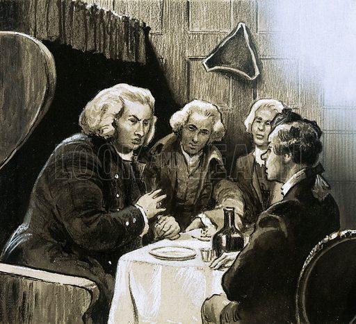 Dr Johnson at dinner. Original artwork.