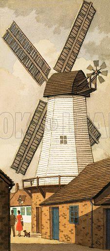 Windmill. Original artwork for L&L 1001 Book.