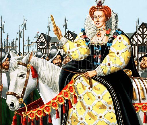 Queen Elizabeth giving her Armada speech.