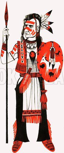 Red Indian. Original artwork for Treasure annual 1972.