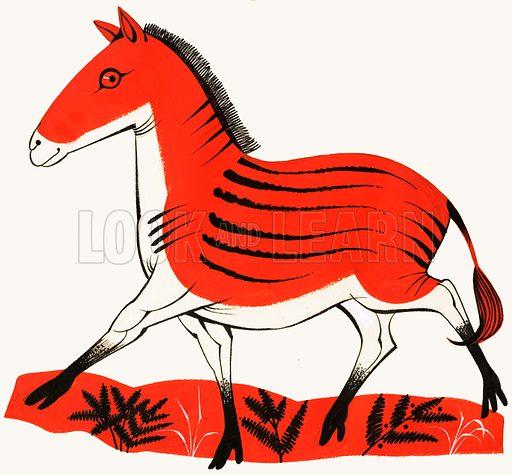 Horse. Original artwork for Treasure annual 1972.